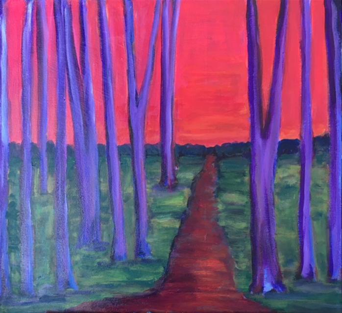 "Beth Sauer ""Crimson Road Out"" 00310"