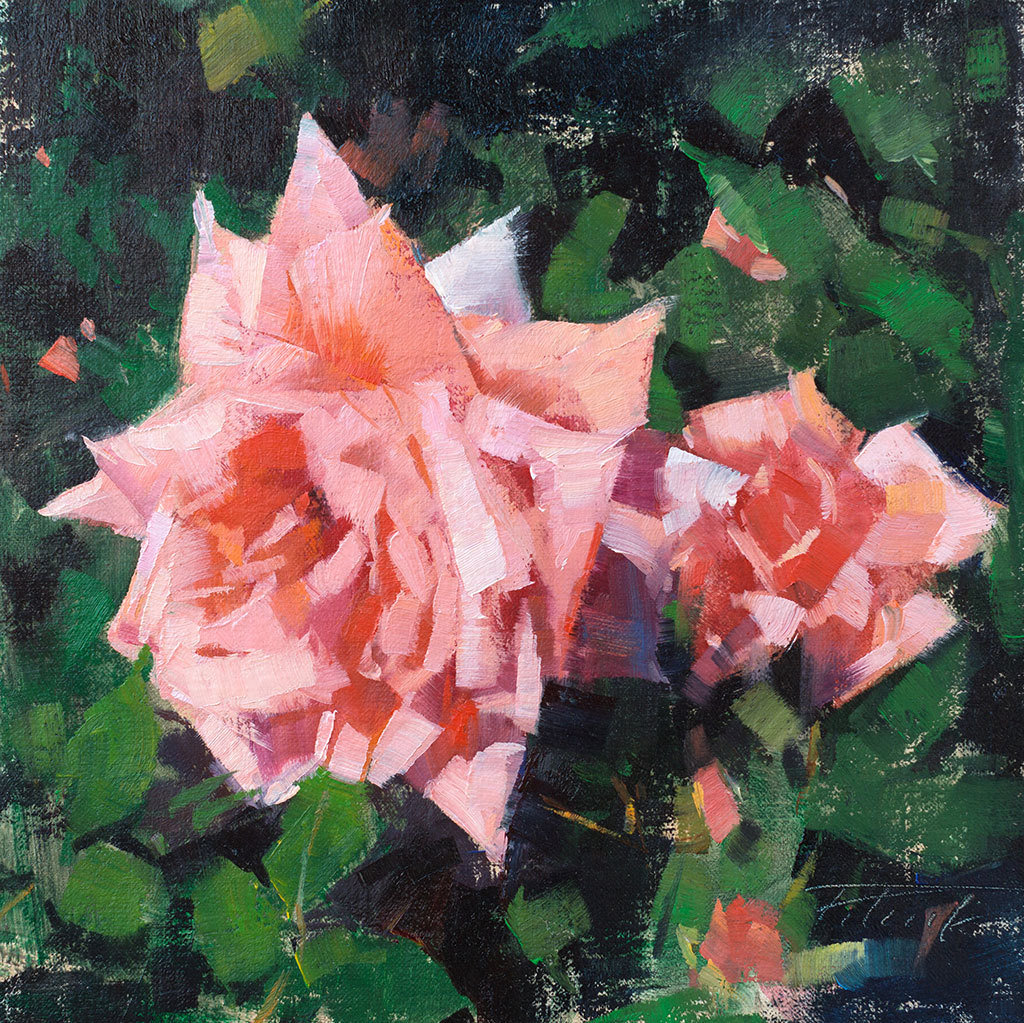 The Dynamic Floral in Oils by Patrick Saunders 00406