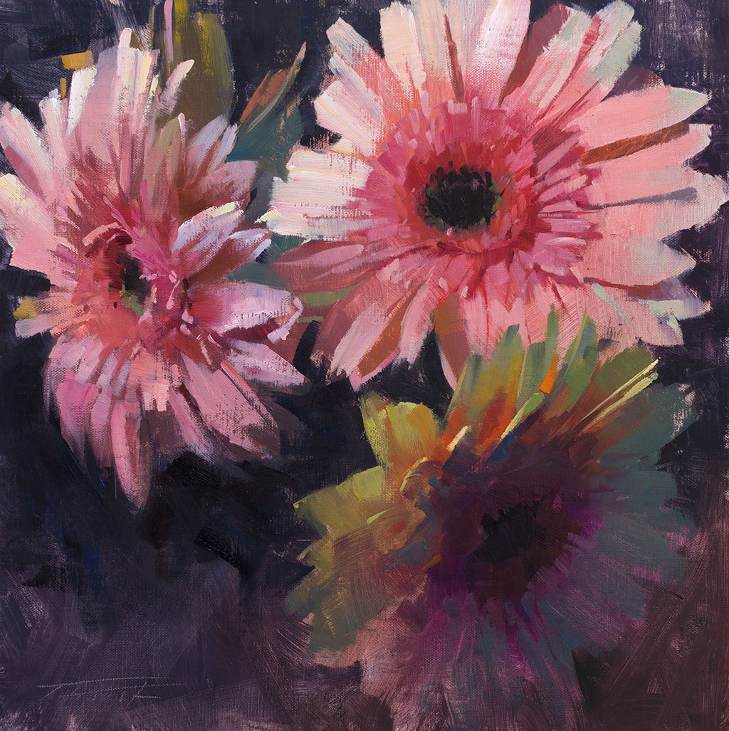 The Dynamic Floral in Oils by Patrick Saunders