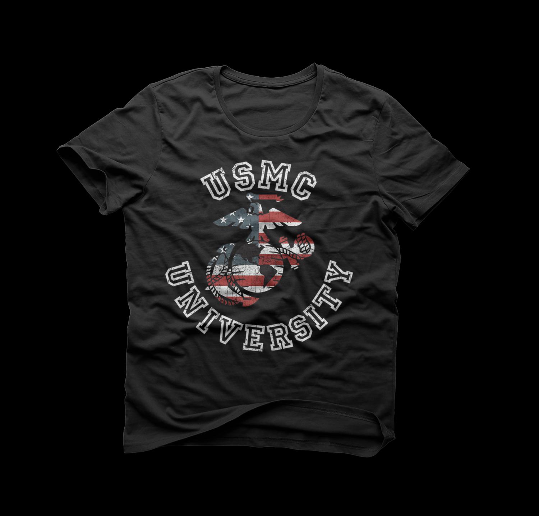 Men's USMC University Vintage T-Shirt