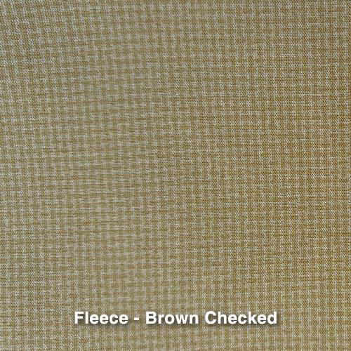 Brown Checkered Fleece