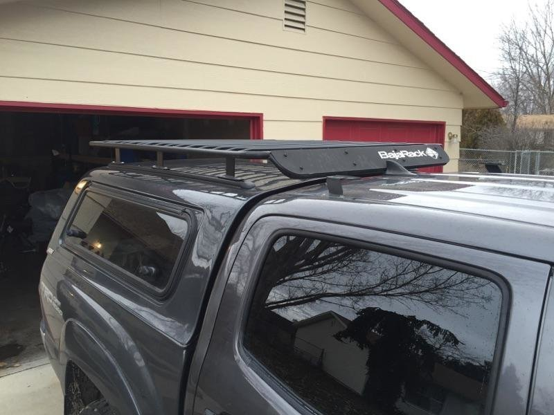 Nissan Frontier Camper Shell >> Camper Shell Utility Flat Rack With Wind Deflector