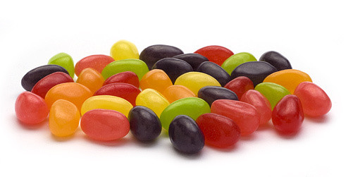Just Born Pectin Real Fruit Jelly Beans 8 Ounce Bag