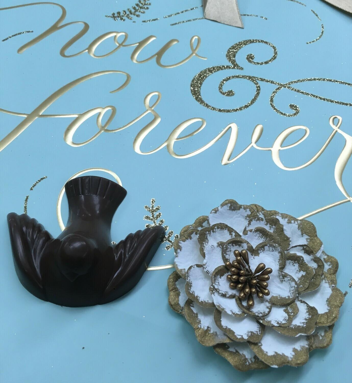 """2.5"""" x 2.5"""" Chocolate Dove"""