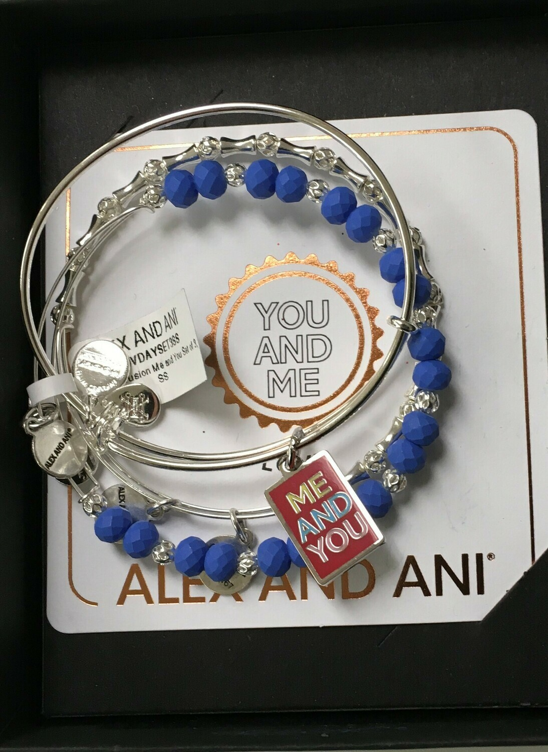 You and Me Alex and Ani Expandable Bracelet.