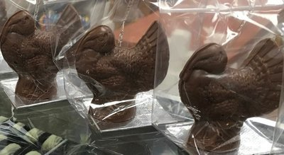 4 - Milk Chocolate Hollow Turkeys. 4