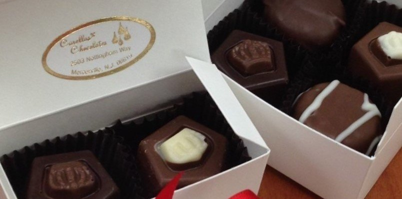 25 - 2 PIece Favor Box 2 Truffles.