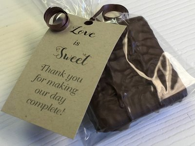 Single Milk and/or Chocolate Coated Graham Cracker Favor. 10 day pre orders over 50