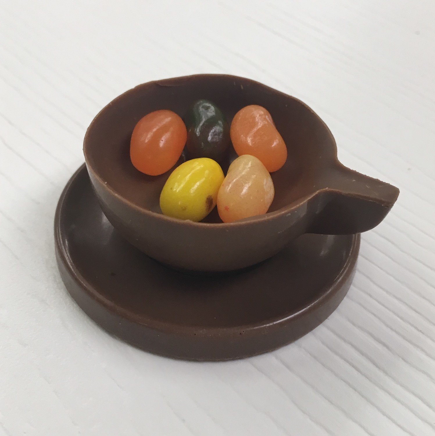 Set of 4 Expresso Cups.  Chocolate Expresso/Tea Cup.  Peanut & Gluten Free (jelly beans not included). 10 day pre orders over 50