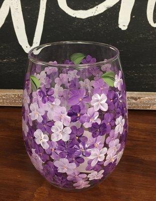 Purple Hydrangea Stemless. 5