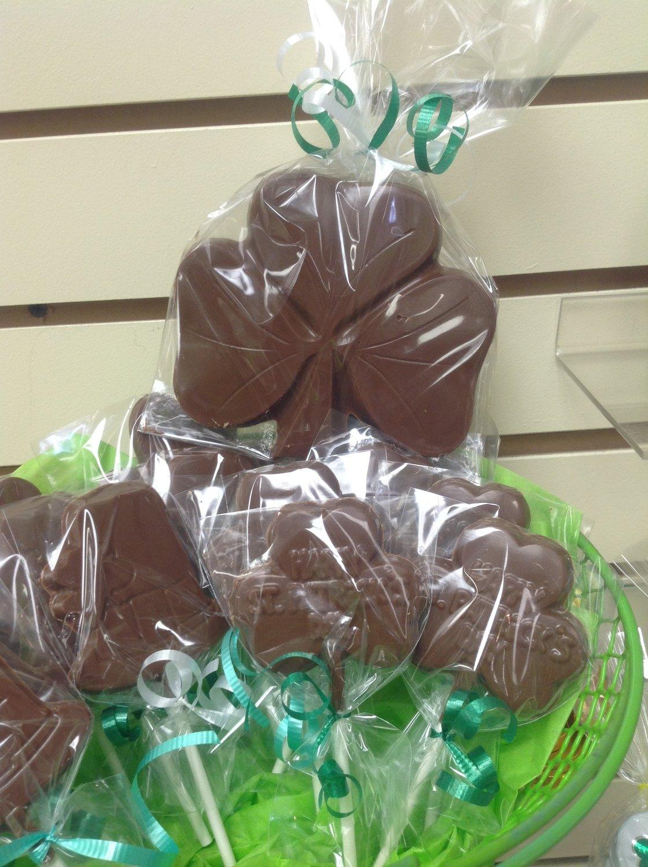 Large Milk Chocolate Shamrock.  Includes Shipping