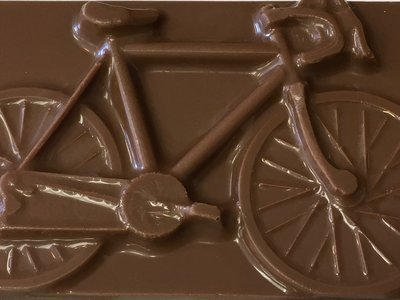 Chocolate Bicycle Bars.  Peanut & Gluten Free. 10 day pre orders over 50