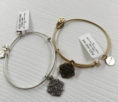 Sister Bangle Alex and Ani.  Gold or Silver available