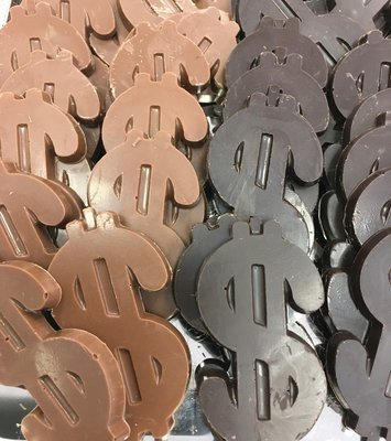 Solid Chocolate Dollar Signs. 3