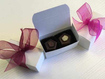 F - 2 Piece Favor Box with Truffles.  10 day pre order