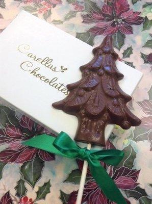 F - Half Pound of Milk and Dark Chocolates with Milk Chocolate Tree Pop (bagged).