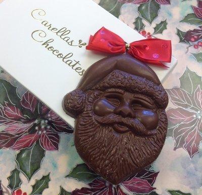 F - Two Milk Chocolate Santa Faces.
