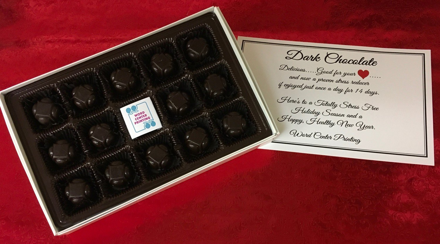 Dark Chocolate Stress Reliever Personalized Holiday or Anyday