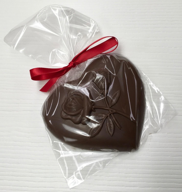 Milk Chocolate Heart w/rose