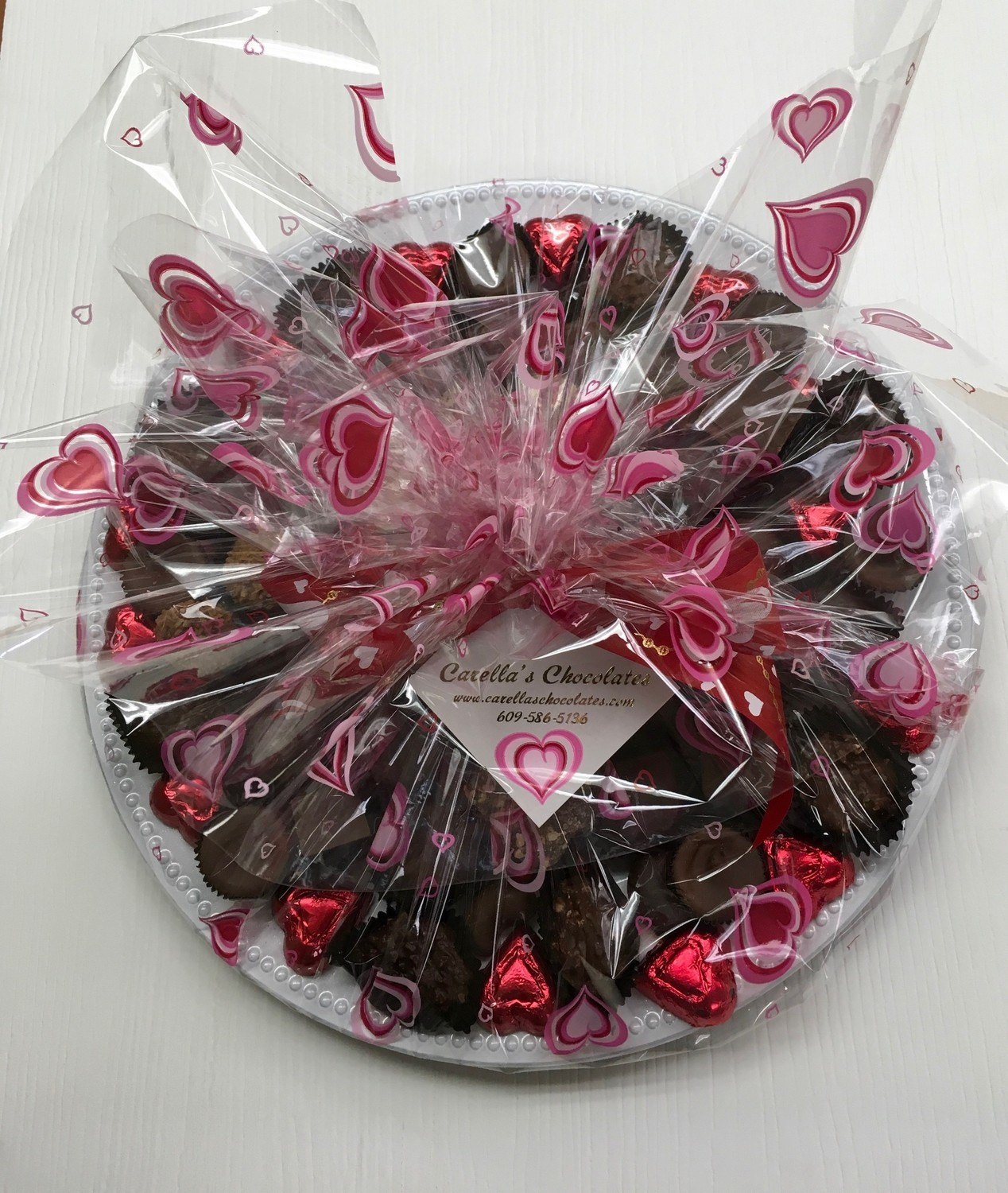 2 Lbs. Valentine Assorted Chocolates Tray.  Pick up or Delivery Only.