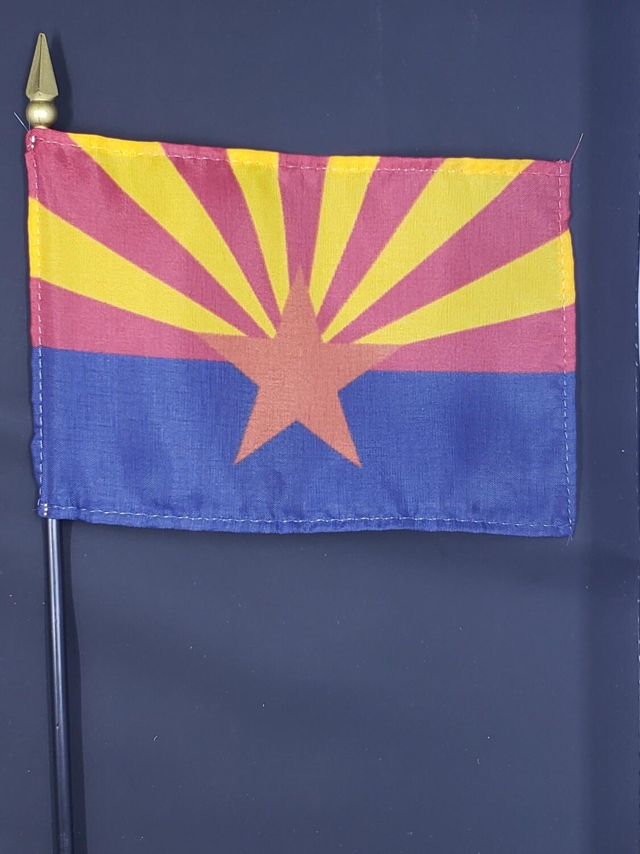 Miniature Arizona State Table Flag