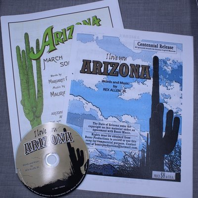 I Love You Arizona Cd & sheet music