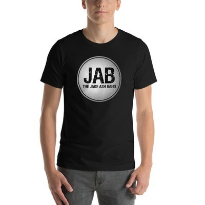 JAB White Logo Short-Sleeve Unisex T-Shirt