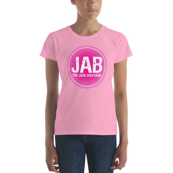 JAB Pink Logo Women's short sleeve t-shirt! Multiple Colors!