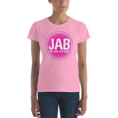 JAB Pink Logo Women's short sleeve t-shirt! Multiple Colors!