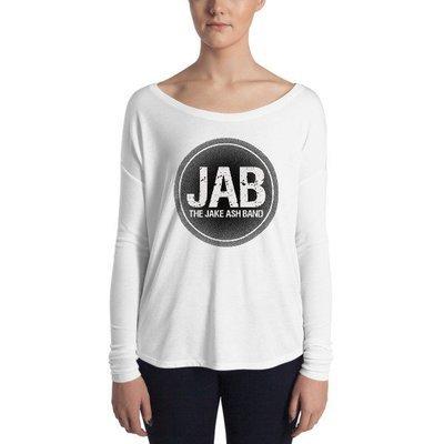 JAB Black Logo Ladies' Long Sleeve Tee
