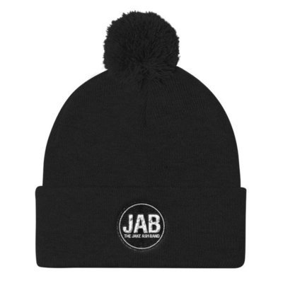 JAB Black Logo Pom Pom Knit Cap