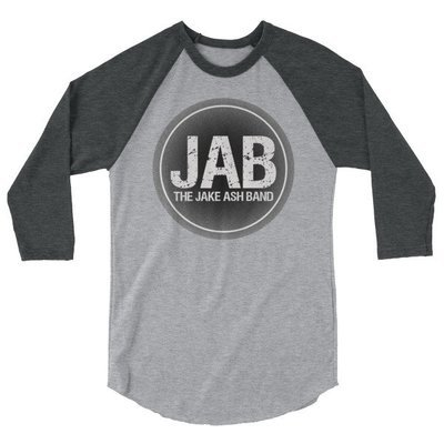 JAB Black Logo 3/4 sleeve raglan shirt
