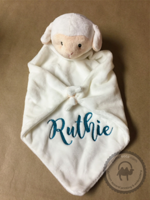 Custom Embroidered Lamb Blankie