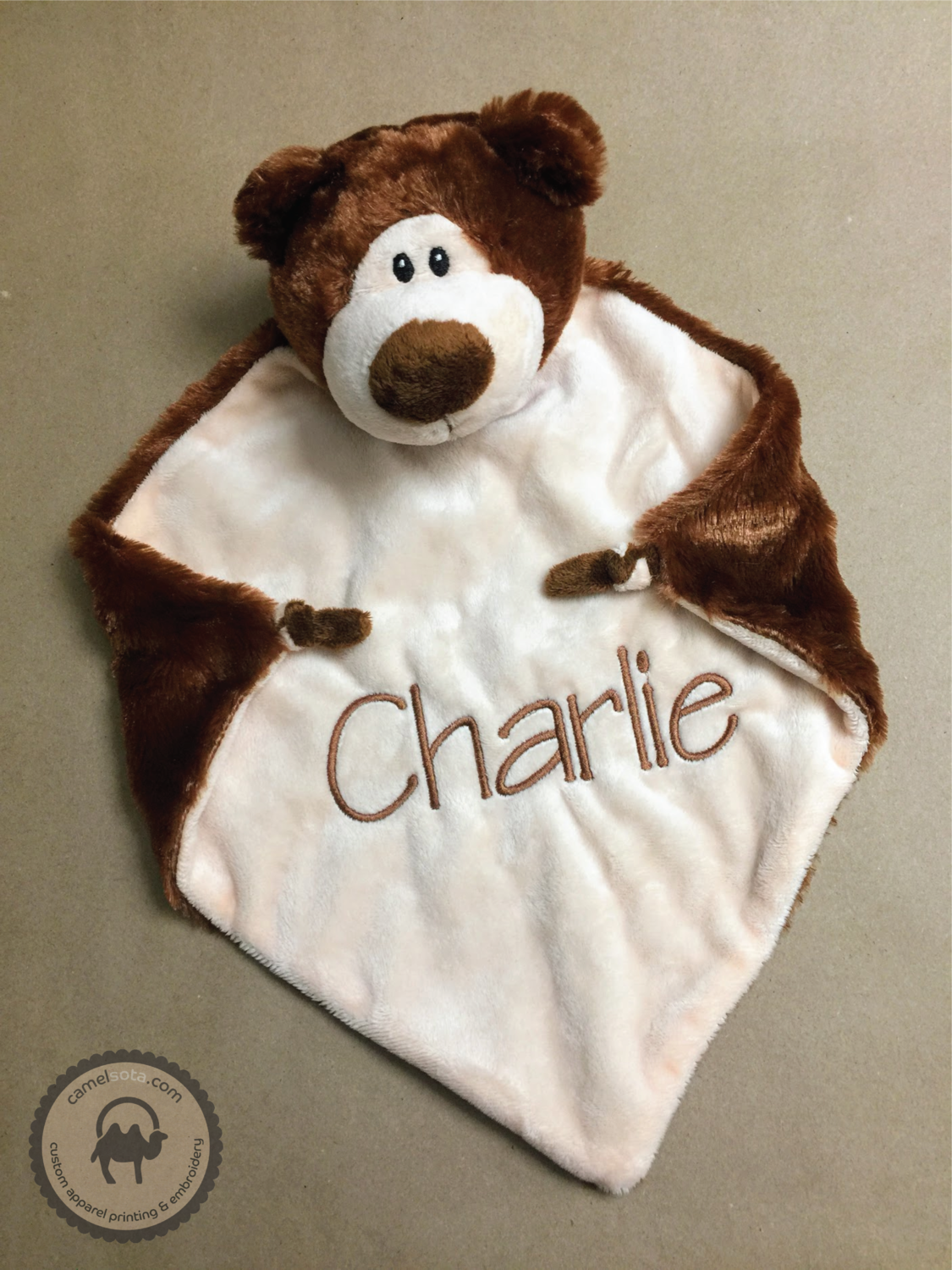 Custom Embroidered Bear Blankie