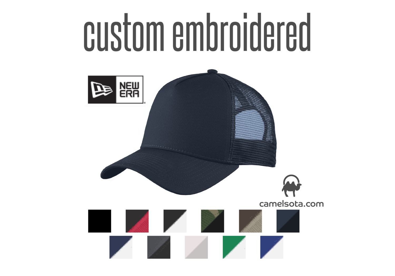 f991452cfba3e Custom Embroidered New Era® Snapback Trucker Cap