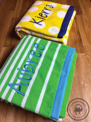 Custom Embroidered Charisma Extra Large Resort Beach Towel 35