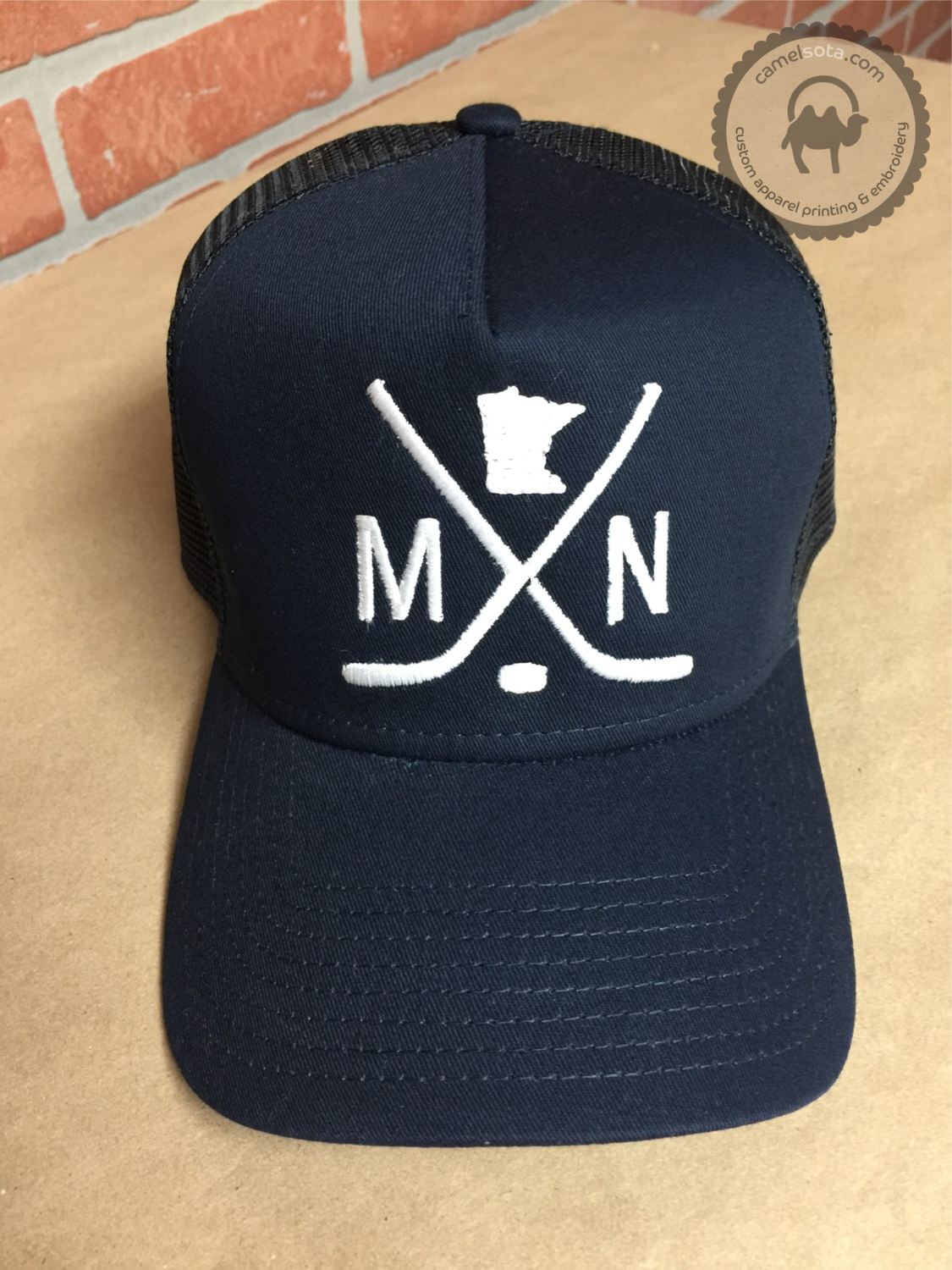 Embroidered MN Hockey Hat