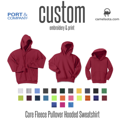 Customized Port & Company - Core Fleece Hooded Pullover