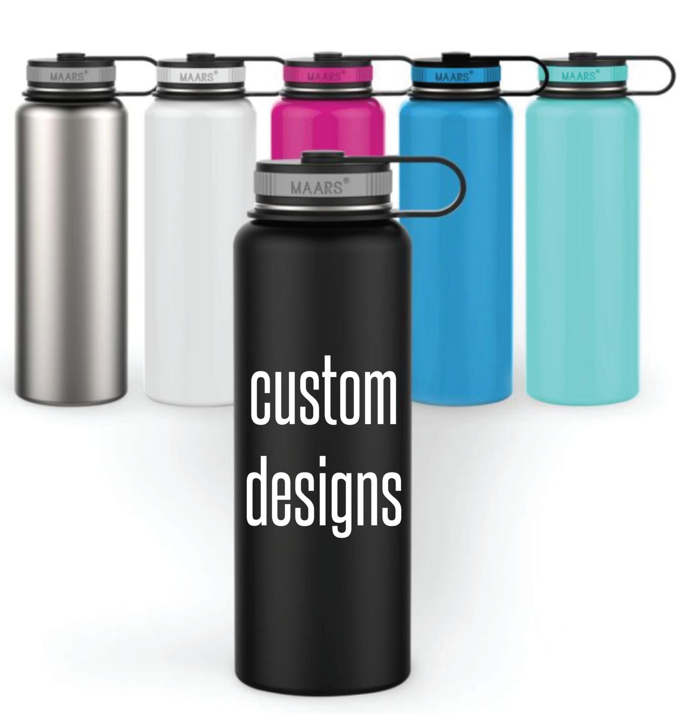Custom Designs on Double Wall Steel Tumblers - Maars Eddy 40oz