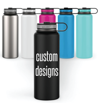 Custom Designs on Double Wall Steel Tumblers - Maars Eddy 40oz