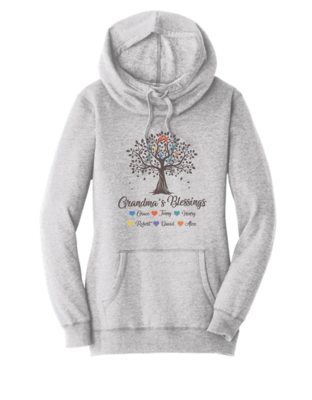 Grandma Tree Blessings Sweatshirt with Grandkids Names