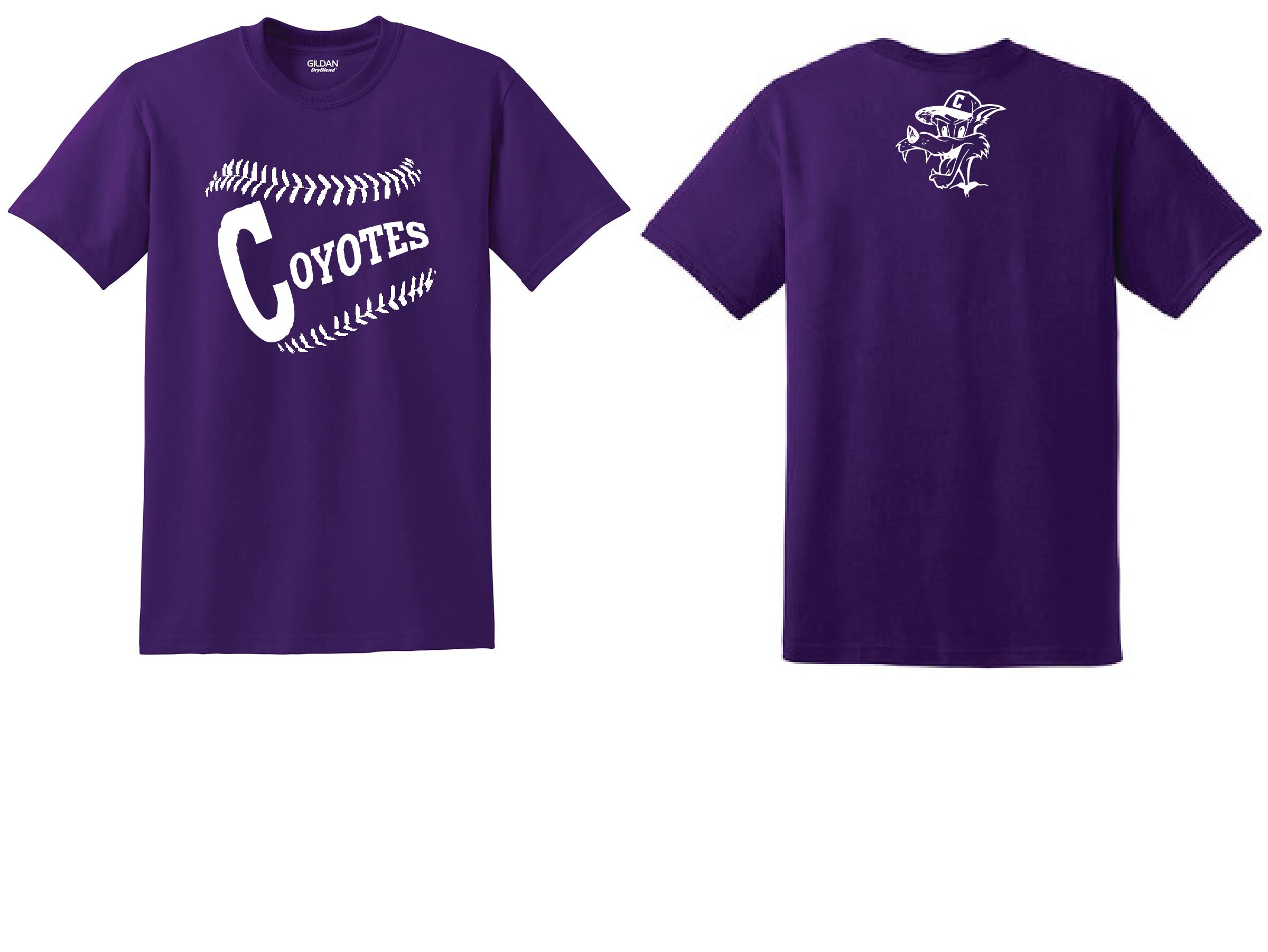 1134e2438555 Shakopee Coyotes Gildan DryBlend T-Shirt