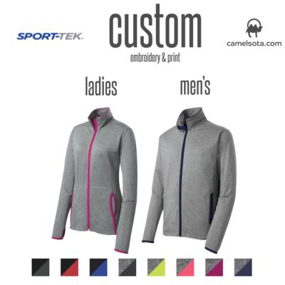 Customized Sport-Tek Sport-Wick® Stretch Contrast Full-Zip Jacket