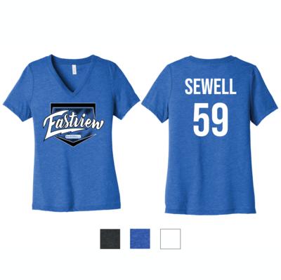 Eastview Baseball Bella+Canvas® Women's Relaxed Jersey Short Sleeve V-Neck Tee