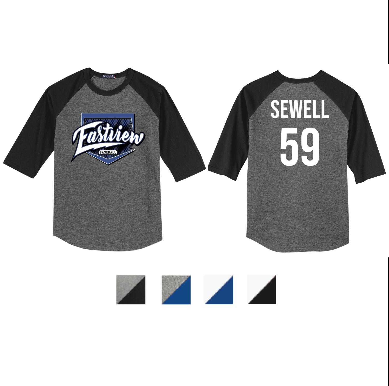Eastview Baseball Sport-Tek® Colorblock Raglan Jersey