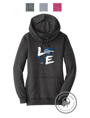 Love Baseball Design Printed on District ® Women's Lightweight Hoodie