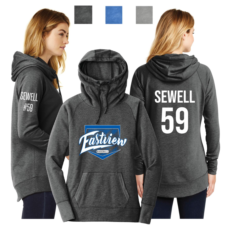 Eastview Baseball Ladies New Era® Ladies Tri-BlendPullover Hoodie