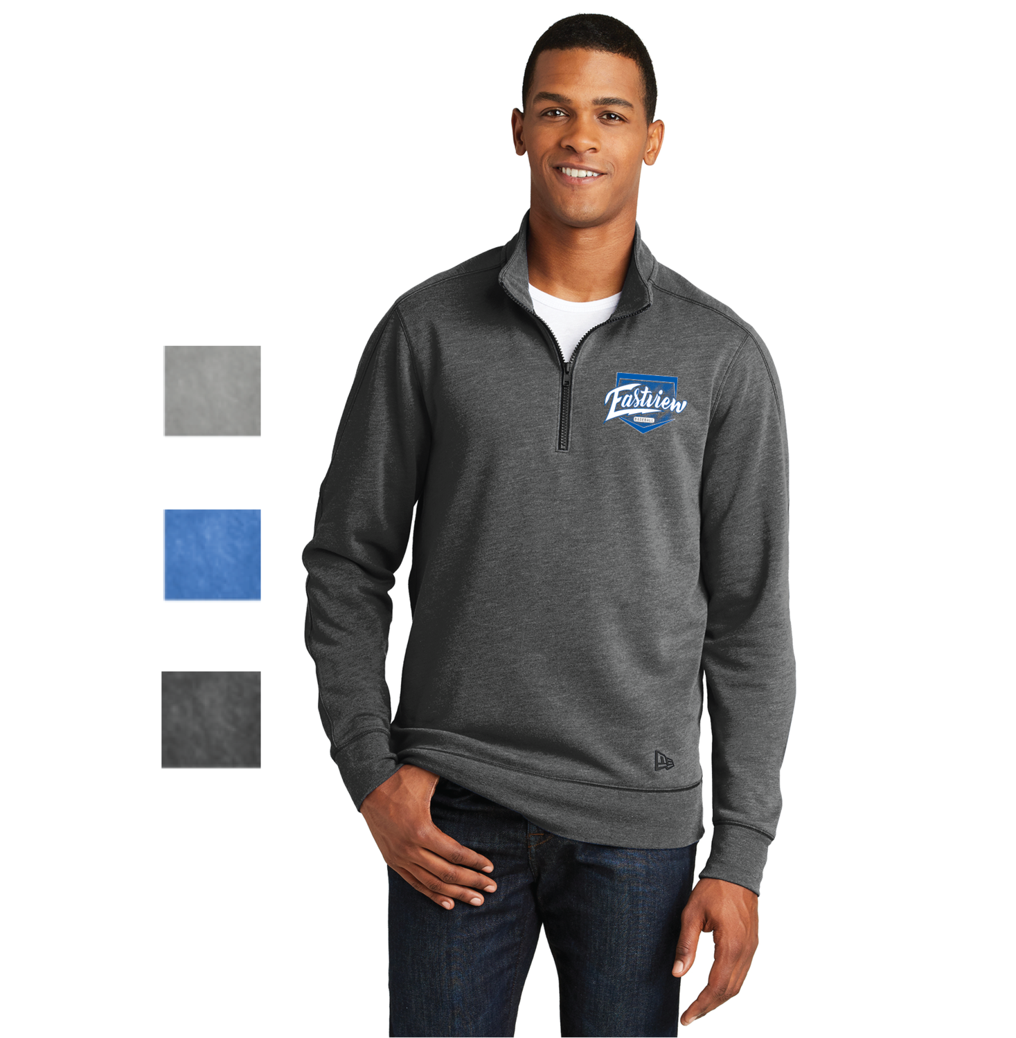 Eastview Baseball New Era® Tri-Blend Fleece 1/4-Zip Pullover