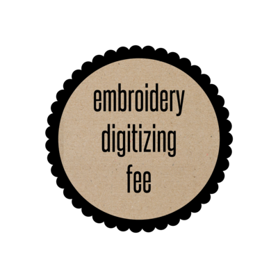 Digitizing Fee for Embroidery
