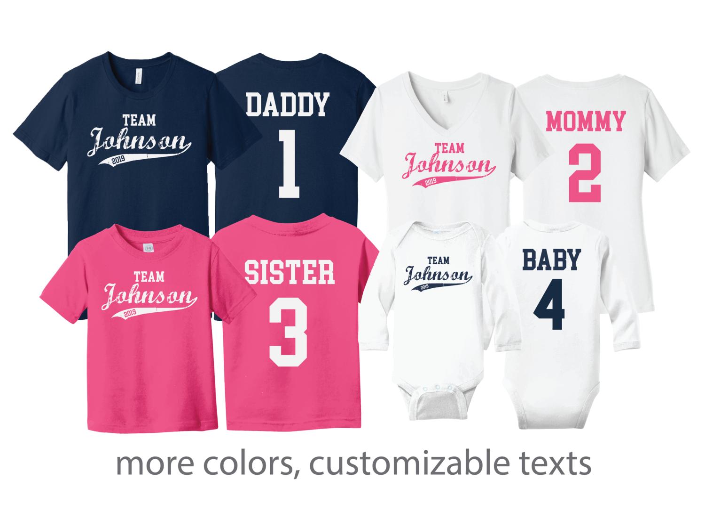 Custom Family Jersey Style Shirts